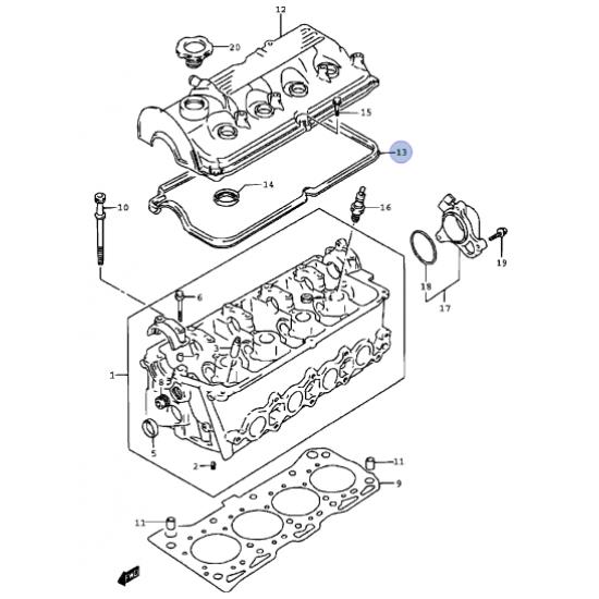 Empaquetadura Tapa Valvula Motor G13 China
