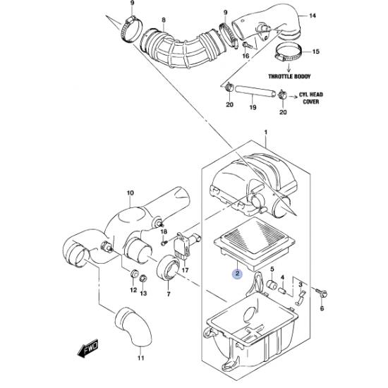 Filtro Aire Suzuki New Jimny Alternativo