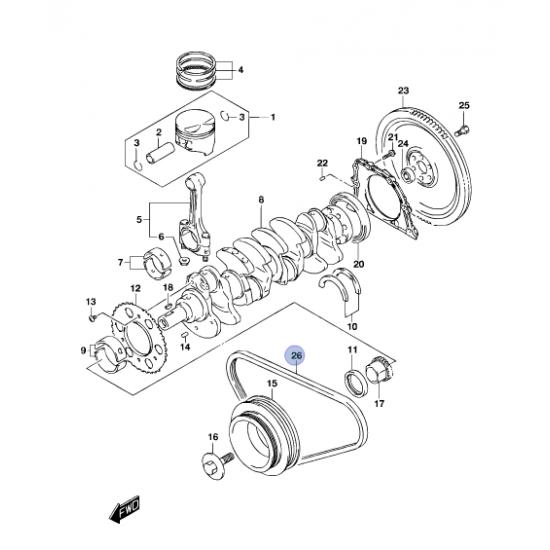 Correa Alternador Motor M13